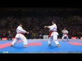 WKF 2012, Female Team Kata Final. Japan (1st place) performing KURURUNFA vs Italy (ANNAN)